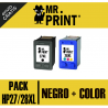 PACK HP27/28XL Negro + Color (C8727A) Cartucho HP Remanufactured