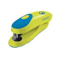 Grapadora herlitz small ergonomica 24/6 verde limon capacidad 15 hojas