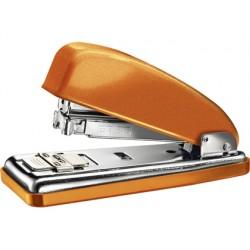 Grapadora petrus 226 classic wow naranja metalizado capacidad 30 hojas en blister