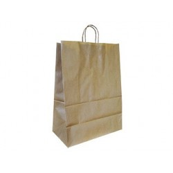 Bolsa kraft q-connect reciclado asa retorcida 270x120x360 mm