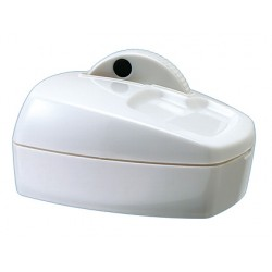 Portaclips q-connect con rueda magnetica giratoria plastico blanco