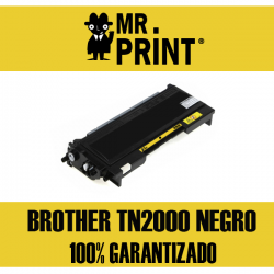 TN2000 BROTHER Toner Negro Remanufacturado