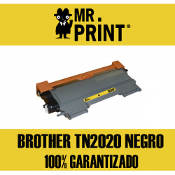 TN2020 Toner Laser Negro Brother Remanufactured