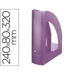 Revistero plastico q-connect violeta translucido