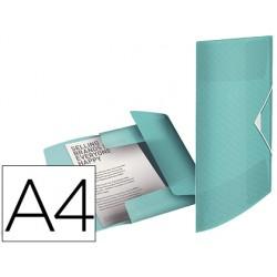 Carpeta esselte gomas tres solapas colour ice polipropileno din a4 color azul