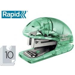 Grapadora rapid mini baby ray colour ice f4 capacidad 10 hojas usa grapas 24/6 y 26/6 color azul en blister