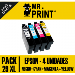Pack Cartuchos Epson 29XL Remanufacturados