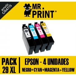 Pack Cartuchos Epson 29XL Remanufacturados