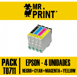 Pack Tinta Epson T0711/2/3/4 T0891/2/3/4