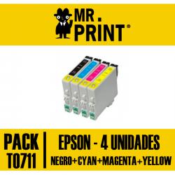 Pack Tinta Epson T0711/2/3/4 T0891/2/3/4
