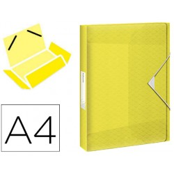 Carpeta esselte proyectos colour ice polipropileno din a4 lomo 40 mm color amarillo cierre gomas