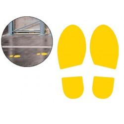Pictograma cep huella de paso amarillo pack de 2 unidades