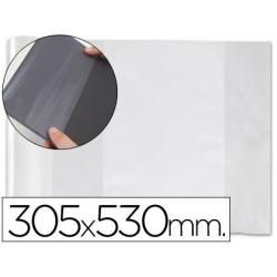 Forralibro pvc con solapa ajustable adhesivo 300x530 mm