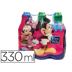 Agua mineral natural font vella kids botella de 330 ml