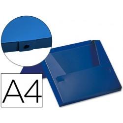 Carpeta beautone portadocumentos broche 32512 polipropileno din a4 azul -lomo 40 mm