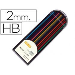 Minas liderpapel colores surtidos de 2 mm -estuche de 12 minas
