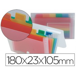Carpeta liderpapel clasificador fuelle 42464 polipropileno mini spectrafile 6 departamentos