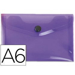 Carpeta liderpapel dossier broche 44236 polipropileno din a6 violeta serie frosty