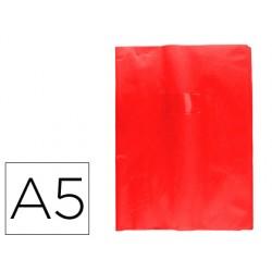 Protector cuaderno clairefontaine con etiqueta din a5 piel en pvc rojo grosella