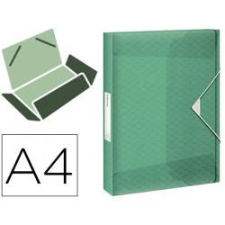Carpeta esselte proyectos colour ice polipropileno din a4 lomo 40 mm color verde cierre gomas