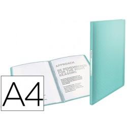 Carpeta esselte escaparate colour ice 40 fundas polipropileno din a4 color azul