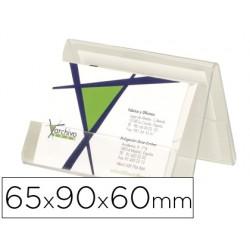 Portatarjeta de visita de sobremesa archivo 2000 en plastico transperente 65x90x60 mm