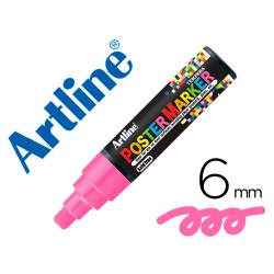 Rotulador artline poster marker epp-6-ros flu punta redonda 6 mm color rosa fluor