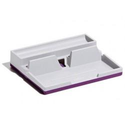 Organizador sobremesa durable varicolor smart office plastico gris/morado 50x190x240 mm