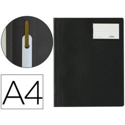Carpeta duraplus din a4 con fastener y ventanilla para tarjeta color negro durable
