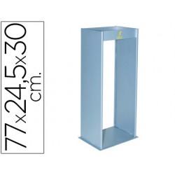 Cenicero metalico con rejilla para arena plata 770x245x300 mm