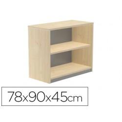 Armario rocada con dos estantes serie store 78x90x45 cm acabado aa01 haya/haya