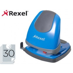 Taladrador rexel easy touch color azul capacidad 30 hojas