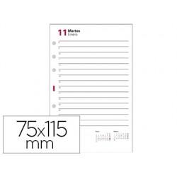 Recambio agenda finocam 601 anualidad 56x89 mm 2 dias pagina texto en catalan