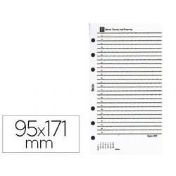 Recambio agenda anillas miquelrius 95x171 mm integral uno dia pagina
