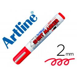 Rotulador artline camiseta ekt-2 rojo -punta redonda 2 mm -para uso en camisetas