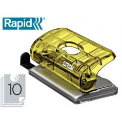 Taladrador rapid colour ice fc5 capacidad 10 hojas color amarillo en blister