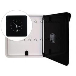 Armario plastico portallaves paperflow con reloj para 12 llaves 320x60x320 mm negro