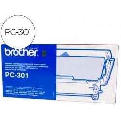 Repuesto fax pc-301 brother cartucho y bobina