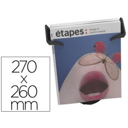 Expositor sobremesa paper-flow 1 compartimento tamaño din a4+ color negro 270x260x155 mm