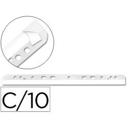 Tira multitaladro autoadhesiva q-connect para documentos a-4 y a-5 pack de 10 unidades