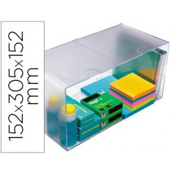 Archicubo archivo 2000 hueco doble en poliestileno transparente 152x305x152 mm