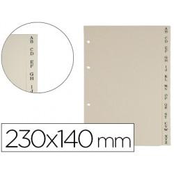 Separador alfabetico tarjetero autograph 230x140 mm