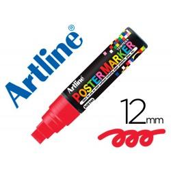 Rotulador artline poster marker epp-12-roj punta redonda 12 mm color rojo