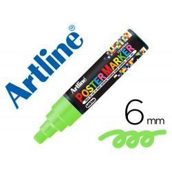 Rotulador artline poster marker epp-6-ver flu punta redonda 6 mm color verde fluor