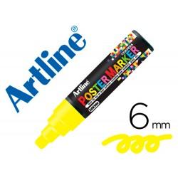 Rotulador artline poster marker epp-6-ama fluo punta redonda 6 mm color amarillo fluor