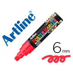Rotulador artline poster marker epp-6-roj punta redonda 6 mm color rojo