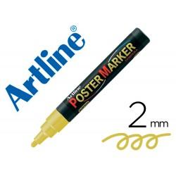 Rotulador artline poster marker epp-4-oro met punta redonda 2 mm color metalizado oro