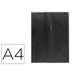 Protector cuaderno clairefontaine con etiqueta din a4 piel en pvc negro