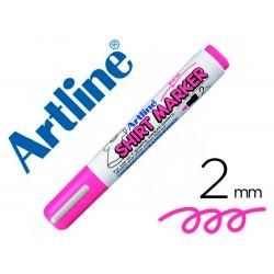 Rotulador artline camiseta ekt-2 rosa fluorescente punta redonda 2 mm para uso en camisetas