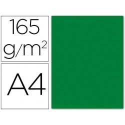 Papel color liderpapel a4 165g / m2 verde acebo paquete de 9
